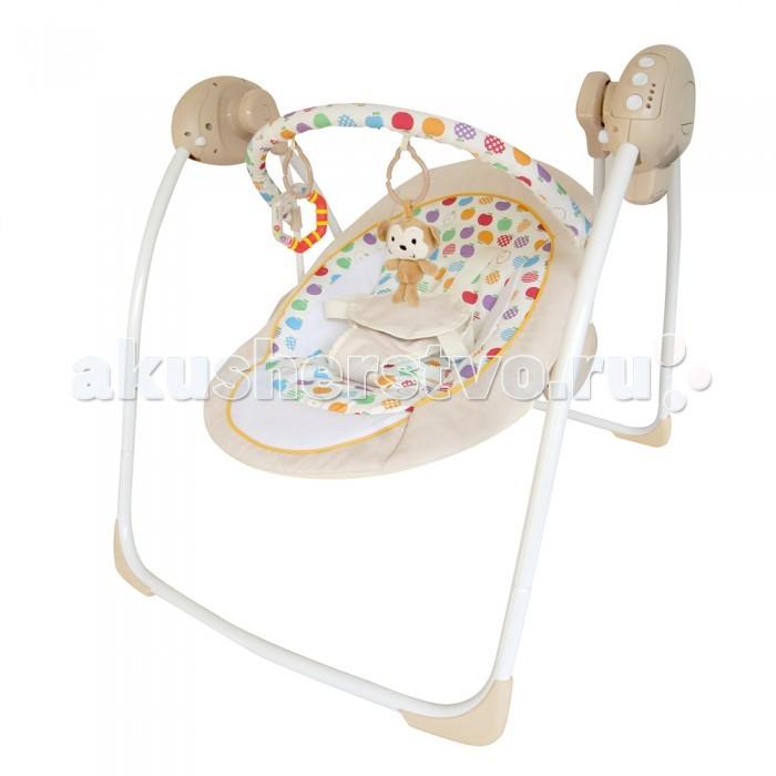 Электронные качели La-di-da КомфортКомфортЛоже качелек анатомически правильное, комфортное для малышей самого младшего возраста. Фиксация мягко, но надежно осуществляется 5-ти точечным ремнем безопасности. Родители могут быть спокойны - малыш ни в коем случае не выпадет во время качания.  Электронные качели Комфорт – верный помощник маме, ведь он позволит успокоить малыша за считанные секунды и уделить время на другие дела.   Скорость качания регулируется – есть пять режимов качания, среди которых каждый из деток найдет для себя наиболее приятный. Время укачивания можно задать – 10, 20 или 30 минут. Многим детям этого хватает, чтобы сладко заснуть прямо в качелях-шезлонге.   Во время бодрствования ребенок также будет занят красивыми игрушками, которые подвешены на дуге, а для развития слуха предусмотрены различные мелодии.   Качели Комфорт работают от 4 батареек типа АА, которые не входят в комплект, либо от блока питания.<br>