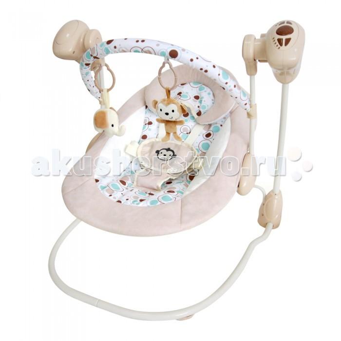 Качели электронные La-di-da УютУютЛоже качелек анатомически правильное, комфортное для малышей самого младшего возраста. Фиксация мягко, но надежно осуществляется 5-ти точечным ремнем безопасности. Родители могут быть спокойны - малыш ни в коем случае не выпадет во время качания.  Электронные качели Уют – верный помощник маме, ведь он позволит успокоить малыша за считанные секунды и уделить время на другие дела. Скорость качания регулируется – есть пять режимов качания, среди которых каждый из деток найдет для себя наиболее приятный. Время укачивания можно задать – 10, 20 или 30 минут. Многим детям этого хватает, чтобы сладко заснуть прямо в качелях-шезлонге.  Во время бодрствования ребенок также будет занят красивыми игрушками, которые подвешены на дуге, а для развития слуха предусмотрены 16 различных мелодий. Качели Уют работают от 4 батареек типа АА, которые не входят в комплект.<br>