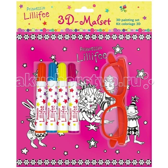 Spiegelburg 3D Набор для рисования Prinzessin Lillifee 109893D Набор для рисования Prinzessin Lillifee 10989Spiegelburg 3D Набор для рисования Prinzessin Lillifee 10989 позволит ребёнку при помощи трафаретов, фломастеров и очков с 3D эффектом создать для себя интересные и оригинальные рисунки.  Набор станет замечательным подарком для творческих девочек и подарит им много положительных эмоций!   в набор входит: 5 трафаретов 4 фломастера   очки с 3D эффектом размер 21x1 см.<br>