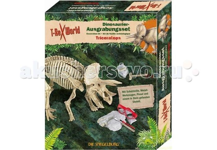 Конструктор Spiegelburg Мини-конструктор Трицератопс T-Rex 21351Мини-конструктор Трицератопс T-Rex 21351Spiegelburg Мини-конструктор Трицератопс T-Rex 21351 – это очень необычный и интересный подарок для юных археологов и любителей динозавров!   В цельном куске гипса спрятаны части скелета трицератопса, которые необходимо аккуратно извлечь с помощью входящего в комплект инструмента – острой лопатки с одной стороны и кисточки с другой.   После извлечения всех частей скелета его можно собрать и получить оригинальную модельку динозавра, добытую и собранную собственными руками!<br>