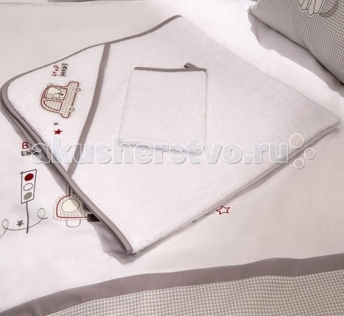 Fiorellino Полотенце-уголок Beep Beep 90х90Полотенце-уголок Beep Beep 90х90Fiorellino Полотенце-уголок Beep Beep 90х90   Особенности: полотенце с уголком для купания и варежка;  материал: 100% хлопок;  отлично впитывает влагу;  размер: 90x90 см.<br>