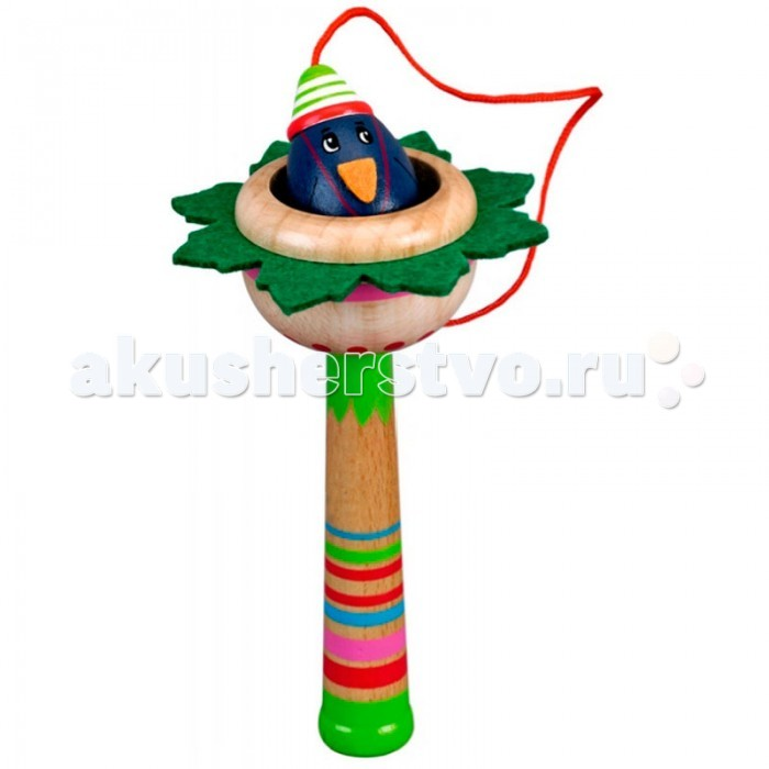 Деревянная игрушка Spiegelburg Игра Поймай ворона Pipa Lupina 11078Игра Поймай ворона Pipa Lupina 11078Bino Игра Поймай ворона Pipa Lupina 11078 представляет собой гнездо, которое прикреплено к палке. В это гнездо нужно закинуть ворона, который висит на веревочке. Веревка ведет от его головы к палке.    Игра развивает у ребенка скорость реакции и мелкую моторику рук, координацию движений и воображение. Кроме того, она прекрасно поднимает настроение ребенка.<br>