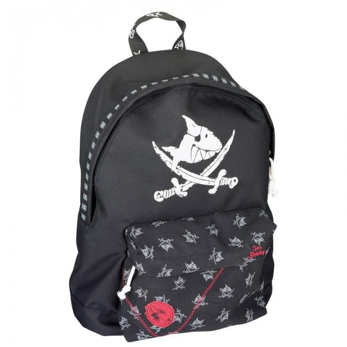 Spiegelburg Рюкзак Capt&amp;#180;n Sharky 30239Рюкзак Capt&amp;#180;n Sharky 30239Компактный рюкзак Capt'n Sharky для маленьких пиратов! Функциональный, вместительный имеет одно главное отделение и внешний карман на молнии. Украшен принтом в виде пиратской символики.  Основные характеристики:  Размер: 27 x 38 x 13 см<br>