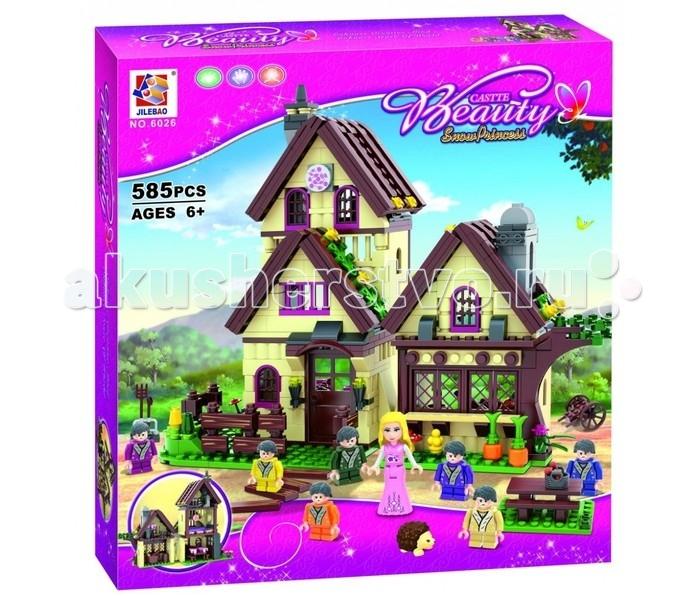 Конструктор Jilebao Белоснежка 585 деталейБелоснежка 585 деталейКонструктор Castle Beauty Белоснежка понравится девочкам, которые любят сказки.   Набор состоит из 585 деталей.  Из элементов конструктора можно собрать замечательный двухэтажный домик и зеленый сад.   Благодаря множеству игровых фигурок, можно воссоздавать сценки из сказки Белоснежка или придумывать свои новые истории, развивая свое воображение.<br>