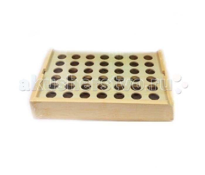 Бэмби Игра четыре в ряд бамбук Д385/MT6971Игра четыре в ряд бамбук Д385/MT6971Игра четыре в ряд - настольная игра-аналог крестиков-ноликов. Игровые фишки изготовлены из бамбука, который по безопасности и качеству не уступает дереву. Цель игры состоит в том, чтобы выложить четыре фишки своего цвета в ряд в горизонтальном, вертикальном направлении или по диагонали.   Игра развивает логическое мышление, учит разрабатывать тактику.  Состав набора: игровое поле, 42 фишки.<br>