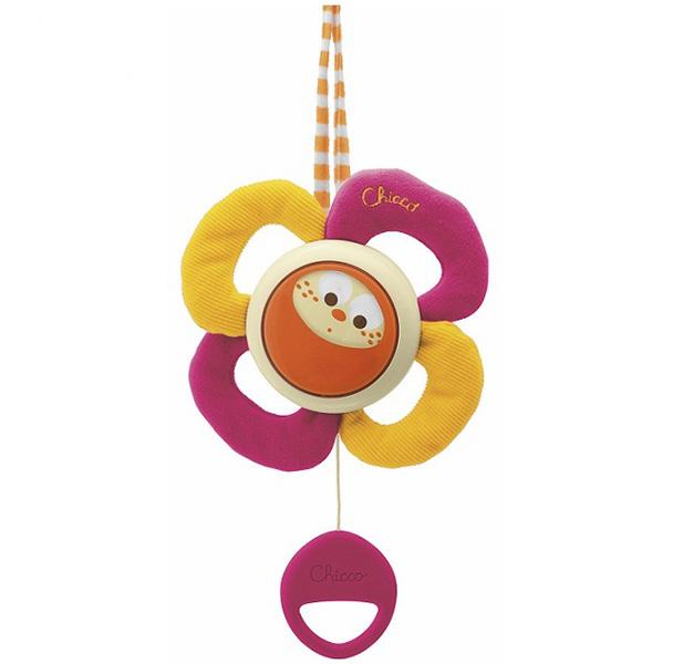 Подвесная игрушка Chicco Цветок музыкальныйЦветок музыкальныйПодвесная игрушка Chicco Цветок музыкальный это красочный цветок , которая обязательно привлечет внимание вашего малыша.  Цветок поворачивается в такт нежной мелодии, помогая ребенку заснуть.<br>