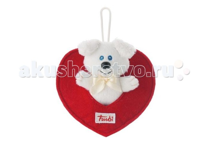 Мягкая игрушка Trudi Собачка в сердечке белая 9 смСобачка в сердечке белая 9 смМягкая игрушка Trudi Собачка в сердечке белая 9 см. Малышу придется по вкусу эта приятная на ощупь небольшая игрушка, выполненная из качественных и безопасных материалов. Взрослые же смогут выразить свои романтические чувства, подарив близкому человеку такое символическое любовное послание.   Компания Trudi разработала множество различных мягких игрушек, посвященные различным событиям.    Высота игрушки: 9 см<br>
