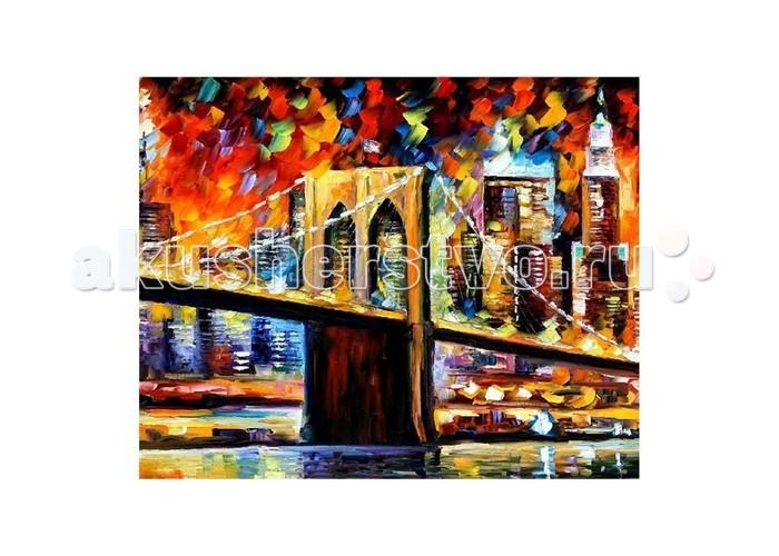 Molly Картина по номерам Л.Афремов Бруклинский мостКартина по номерам Л.Афремов Бруклинский мостMolly Картина по номерам Л.Афремов Бруклинский мост GX9021  Картина по номерам - это интеллектуальное рисование. Просто взяв в руки краски и следуя нумерации на фрагментах картинки, Вы создаете оригинальный рисунок. Раскраска по номерам учит штриховать рисунки в заданных областях и раскрашивать их, не заходя за контур, концентрироваться на отдельных предметах, планировать свою деятельность.  Комплектация: - холст, сделанный из чистого хлопка на подрамнике; - набор акриловых красок, индивидуально разлитый для каждой картины; - набор кистей; - крепеж для подвешивания картины; - контрольный лист; - акриловый лак.  Размер: 40х50 см.<br>