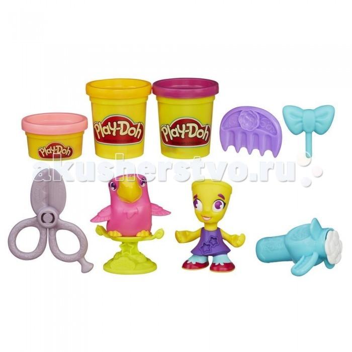 Play-Doh Игровой набор пластилина Город Житель и попугайИгровой набор пластилина Город Житель и попугайPlay-Doh Игровой набор пластилина Город Житель и попугай обязательно понравится маленьким любителям лепки!  Особенности: Набор Play-Doh включает пластилин, забавные фигурки и аксессуары.  Юный дизайнер должен создать прическу для девочки. Потом ее можно украсить бантом или звездочками - их очень просто вылепить с помощью формочки на платье фигурки-парикмахера.  Попугайчик из комплекта тоже нуждается в стилисте. Чтобы изготовить для птички красивые курчавые перышки, достаточно воспользоваться феном.  Поместите пластилин внутрь фена и выдавите его через специальные отверстия.<br>