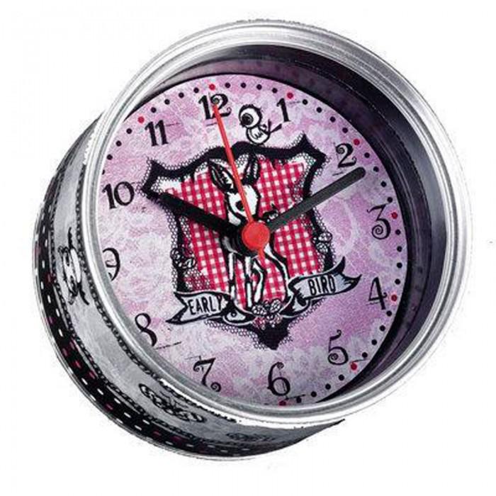 Часы Baby Watch Будильник Reballa 90144Будильник Reballa 90144Baby Watch Будильник Reballa 90144 выполнены в стиле консервной банки, открыв, которую появляются часы. Оригинальный и необычный аксессуар комнаты юной девушки.  Все модели часов разработаны во Франции, прошли проверку в независимой лаборатории и сделаны из безопасных материалов.<br>