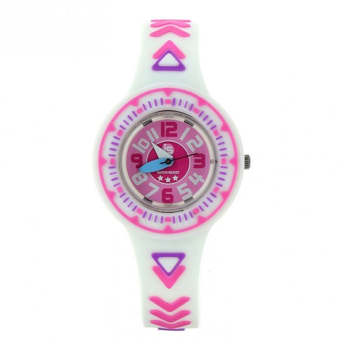 Часы Baby Watch Наручные Junior Girl 605279Наручные Junior Girl 605279Baby Watch Часы наручные Junior Girl 605279 с рельефным рисунком принцесс. Часики упакованы в подарочную упаковку. Идеально сидят на запястье.  Основные характеристики: возраст от 6 лет водонепроницаемые ударопрочные кварцевый механизм батарея Sony(срок службы два года) гарантия 2 года в комплекте обучающие часы из картона и наклейки. Размеры: диаметр 2,8 см, ремешок 21 см  Все модели часов разработаны во Франции, прошли проверку в независимой лаборатории и сделаны из безопасных материалов.<br>
