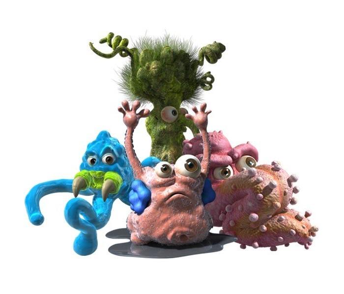 Vivid Fungus Amungus Игровой набор Мешок дезинфектораFungus Amungus Игровой набор Мешок дезинфектораИгровой набор Fungus Amungus Мешок дезинфектора включает в себя одну из самых важных вещей для любого ученого.   В нем находится одна бактерия и буклет коллекционера, благодаря которому, вы определите принадлежность вашего героя и узнаете, кого еще не хватает в вашей лаборатории.   Фигурки выполнены из расплющивающегося, растягивающегося и липкого пластика.   Всего в этой серии игрушек вышло 105 микробов и бактерий, принадлежащих к разным группировкам.   Эти симпатичные липкие фигурки имеет очень яркую расцветку.   Собрав полную коллекцию, вы сможете обмениваться фигурками с друзьями.   Размер одной фигурки: около 3.5 сантиметров.  Рекомендуемый возраст: от 4 лет.<br>