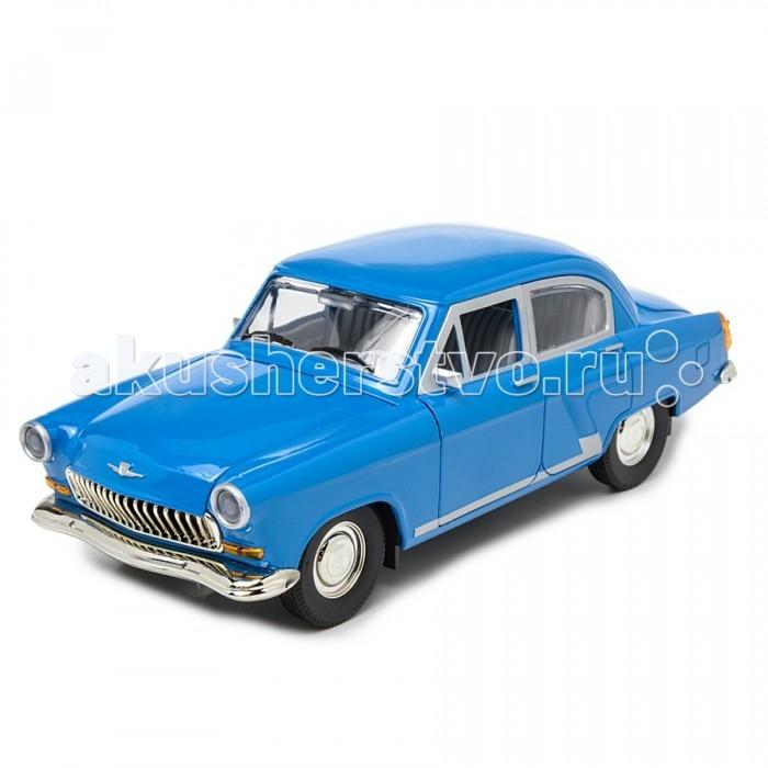 Автопанорама Инерционная машина ГАЗ-21 Дизель 1:24Инерционная машина ГАЗ-21 Дизель 1:24Автомобиль ГАЗ-21 изготавливался не только в стране советов – в Бельгии одна небольшая фирма выпускала на основе машинокомплектов, которые присылали из СССР, Волги с дизельным двигателем, которые пользовались определенным успехом на европейском рынке.  Модель Автопанорама ГАЗ-21 Дизель выполнена в масштабе 1:24. Машинка отличается подробной проработкой деталей кузова и салона. Двери, капот и багажник легко открываются, к тому же при открытии дверей загораются фары и включается звук, имитирующий шум мотора.  Вдобавок у машинки есть инерционный механизм, действующий по всем известному принципу – прижать к полу, откатить назад, отпустить. И увлеченный коллекционер, и маленький автомобилист будут смотреть на эту модель с равным интересом.  Возраст: от 3 лет.  Размер упаковки: 26 x 11 x 12 см.<br>