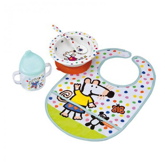 Petit Jour Набор детской посуды Mimi с нагрудником