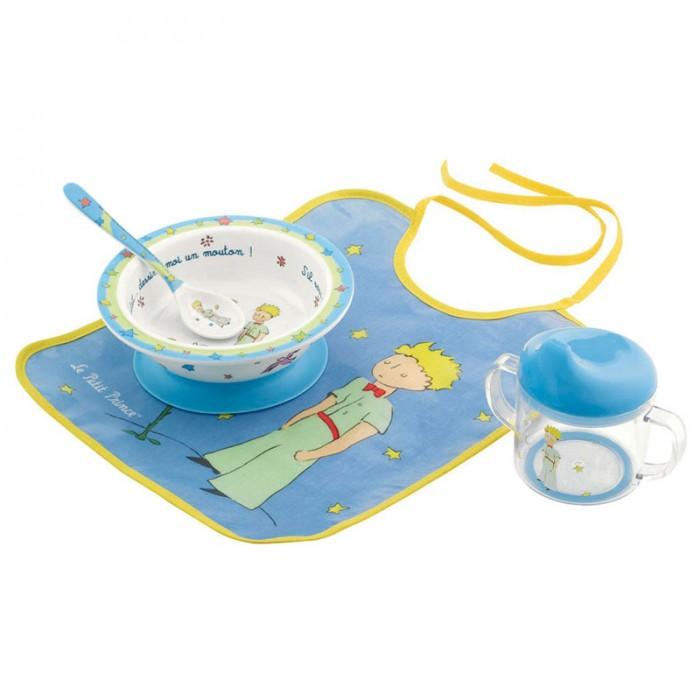 Petit Jour Набор детской посуды Petit Prince с нагрудником