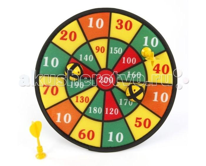 Shantou Gepai Дартс детский с липучкойДартс детский с липучкойShantou Gepai Дартс детский с липучкой великолепный выбор для маленького развивающегося ребенка.   Дартс - игра, которая поможет ребенку развить меткость и координацию движений. В мишень стреляют мячиками на липучках. Снаряды прилипают к мягкой мишени.   Игра развивает внимательность, глазомер, моторику, меткость.<br>