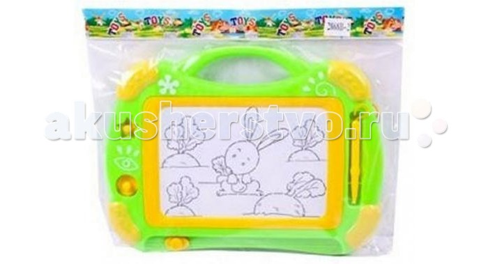 Shantou Gepai Доска для рисования 2868B-2Доска для рисования 2868B-2Shantou Gepai Доска для рисования 2868B-2 - обязательно понравиться маленькому художнику. С помощью доски ребенок сможет создавать картинки при помощи магнитной ручки.   Если забытые ручка, карандаш или фломастер окажутся в руках у ребенка, вся квартира превращается в гигантское полотно, на котором маленький художник экспериментирует без зазрения совести. Пострадать могут обои, мебель, техника, одежда и даже домашние животные! Этого можно избежать, если дать ребенку специальную доску для рисования.<br>