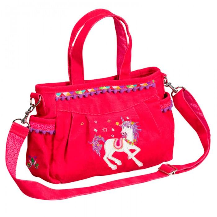 Spiegelburg Сумка Prinzessin Lillifee 10488Сумка Prinzessin Lillifee 10488Необычная и красивая сумка Prinzessin Lillifee понравится любой современной девочке! Изготовлена из вельвета и большим количеством отделений и карманов.   Основные характеристики:   Размер: 23 х 16 х 7 см<br>