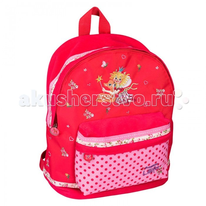 Spiegelburg Рюкзак Prinzessin Lillifee 30415Рюкзак Prinzessin Lillifee 30415Компактный детский рюкзак Prinzessin Lillifee выполнен из водостойкой ткани яркого красного цвета с вышивкой. В него можно сложить все самые необходимые вещи. Очаровательный рюкзак обрадует любую принцессу!  Основные характеристики:   Размер: 23 x 29 x 17 см<br>