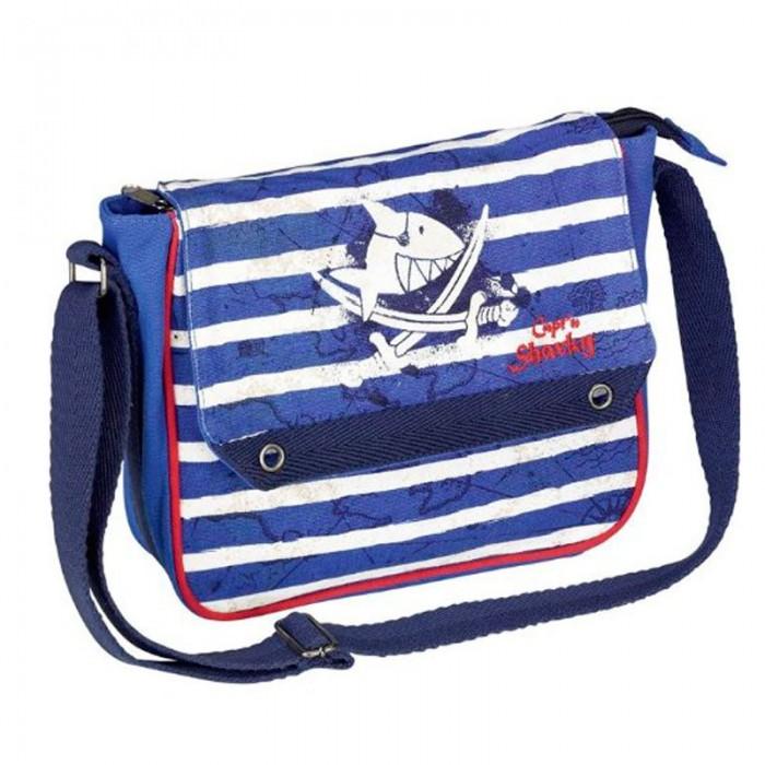 Spiegelburg Сумка Captn Sharky 30532Сумка Captn Sharky 30532Яркая сумка из серии Capt'n Sharky для смелых мореплавателей! Не смотря на маленький размер, сможет легко разместить все нужные вещи. Ремень регулируемый. Основной отсек на молнии.   Основные характеристики:   Размер: 23 x 20,5 x 7 см<br>
