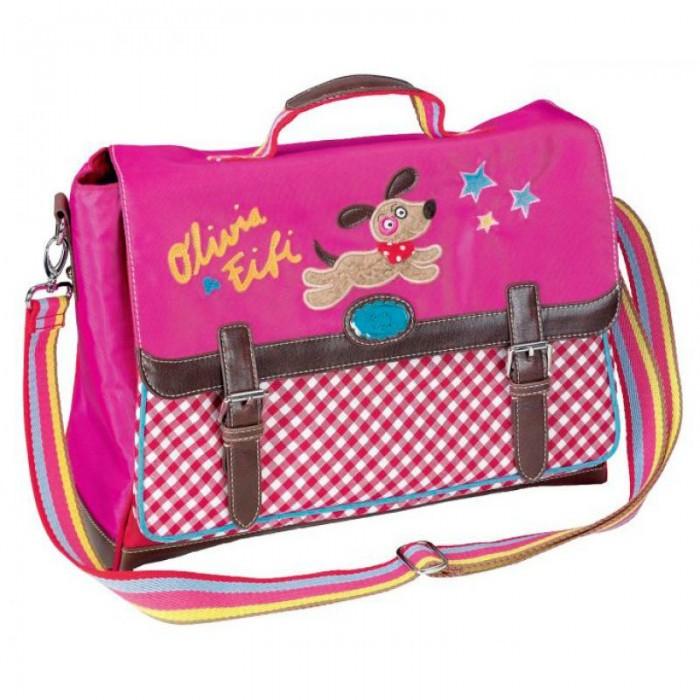 Spiegelburg Сумка Olivia &amp; Fifi 90347Сумка Olivia &amp; Fifi 90347Сумка-портфель Olivia & Fifi стильная, функциональная и вместительная. Выполнена в ярких цветах с контрастными коричневыми кожаными ремешками. Отличная сумка на каждый день!  Основные характеристики:   Размер: 38 x 15 x 28 см<br>