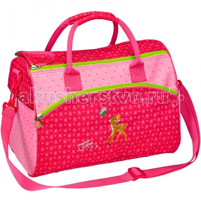 Spiegelburg Спортивная сумка Prinzessin Lilifee 11784Спортивная сумка Prinzessin Lilifee 11784Спортивная сумка Prinzessin Lilifee яркая, красивая сумка для занятий спортом  розового цвета с милым олененком, для девочек! Удобное внутреннее отделение с двумя параллельными молниями, внешние карманы, комфортные ручки.  Основные характеристики:   Размер: 35 х 25 х 20 см<br>