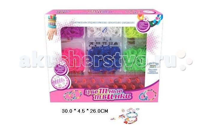 Shantou Gepai Набор для плетения резинок 21011Набор для плетения резинок 21011Набор для плетения резинок. С помощью набора можно плести браслеты, аксессуары, украшения, кольца.  Плетение браслетов из резинок развивает мелкую моторику рук, стимулирует творческое воображение.   Плетение из резинок - молодое и очень популярное хобби среди детей, подростков и взрослых по всему миру. Используя простые в обращении приспособления для плетения, можно в короткий срок сплести множество великолепных, ярких, красивых браслетов, подвесок, колец. Пластиковый станок для плетения полноразмерный или компактный, а также крючок для плетения удобно брать в дорогу.<br>