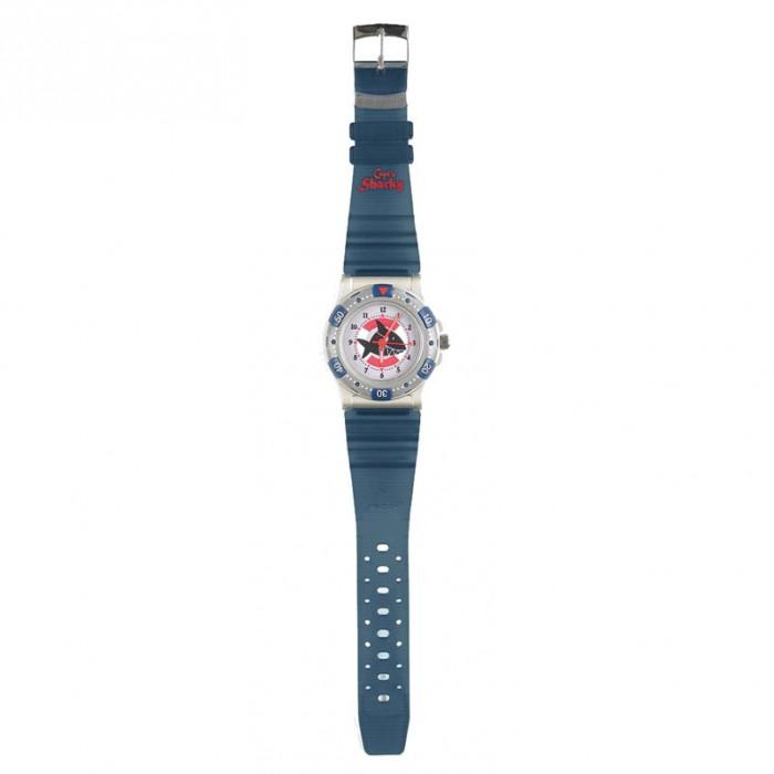 Часы Spiegelburg Наручные Captn Sharky 20750Наручные Captn Sharky 20750Оригинальные наручные часы Сapt'n Sharky для городских пиратов. Водонепроницаемые, ударопрочные, с кварцевый механизм Регулируемый браслет выполнен из прочного пластика. В прозрачной упаковке.  Основные характеристики:   Размер: &#216;3,5 см, ремешек 17 см<br>