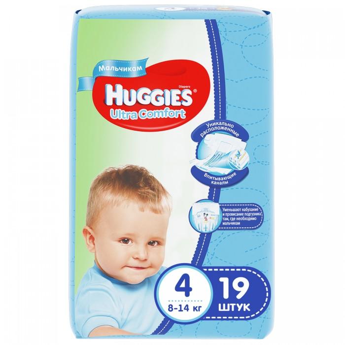 Huggies Подгузники Ultra Comfort Conv Pack для мальчиков 4 (8-14 кг) 19 шт.