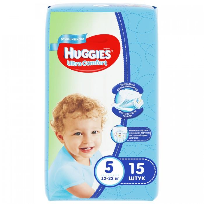Huggies Подгузники Ultra Comfort Conv Pack для мальчиков 5 (12-22 кг) 15 шт.