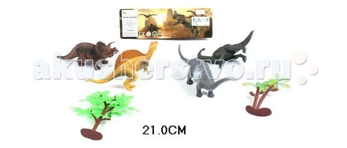 Shantou Gepai Набор Долина динозавров 4штНабор Долина динозавров 4штНабор Долина динозавров. Хотя динозавры исчезли с нашей планеты уже давным-давно, эти доисторические животные все равно вызывает огромный интерес у детей. Теперь у них есть возможность создать свой собственный Парк юрского периода! Фигурки динозавров реалистичны. Играя с небольшими фигурками, ребенок развивает мелкую моторику рук, сенсорное восприятие, знакомится с различными формами и цветами. Игрушки прекрасно подойдут для сюжетно-ролевых игр.  Комплектность: фигурки динозавров - 4 шт., деревья - 2 шт.<br>
