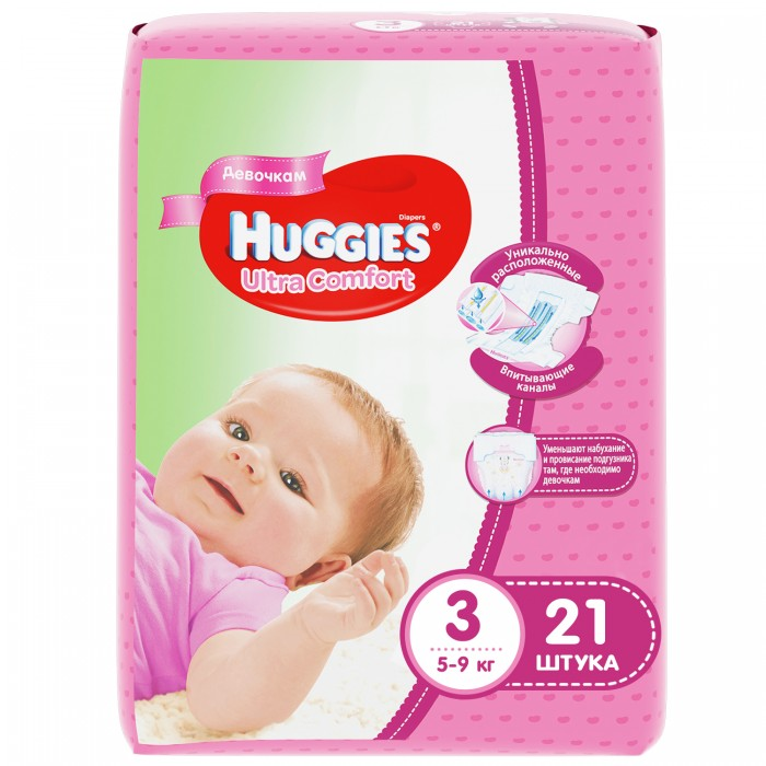 Huggies ���������� Ultra Comfort Conv Pack ��� ������� 3 (5-9 ��) 21 ��.