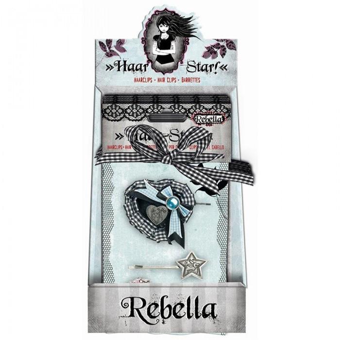 Spiegelburg Набор заколок Rebella 95059Набор заколок Rebella 95059Привлекательный набор Rebella из трех заколок для волос. Девочки всех возрастов будут рады таким аксессуарам.  Основные характеристики:   Размер: 5 см<br>