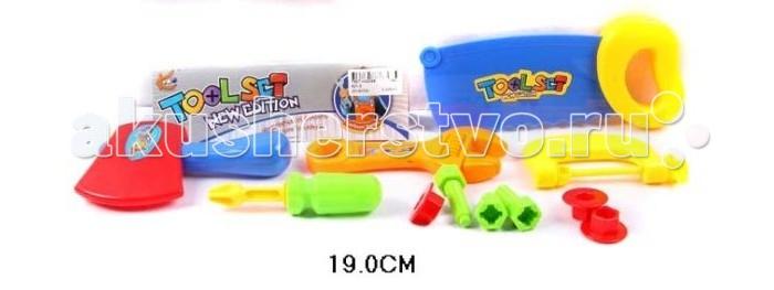 Shantou Gepai Набор инструментов 11 предметов 621-5Набор инструментов 11 предметов 621-5Набор инструментов состоит из 11 предметов. Отлично подойдет для сюжетно -ролевых игр. Во время игры ребенок учится базовым профессиональным навыкам.  Сюжетно-ролевая игра поможет развить многие полезные навыки, в том числе, учит терпению и отзывчивости.  Комплектность: отвертка, топор, пила, разводной ключ, болты, гайки, лобзик, газовый ключ.<br>