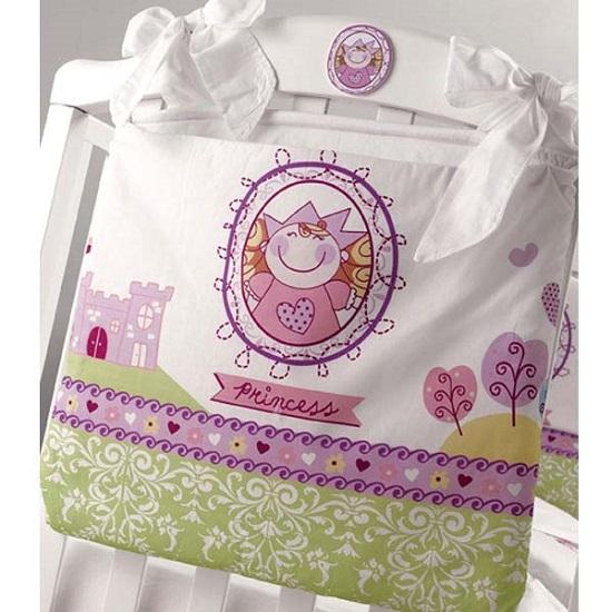 Roman Baby Сумка на кроватку PrincipessaСумка на кроватку PrincipessaУдобная сумка на кроватку Roman Baby Principessa с оригинальной вышивкой - куда можно положить игрушки и детские принадлежности  100% хлопок<br>