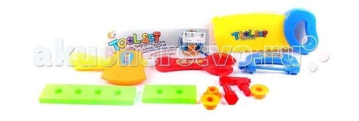 Shantou Gepai Набор инструментов 12 предметов 621-7Набор инструментов 12 предметов 621-7Набор инструментов состоит из 12 предметов. Отлично подойдет для сюжетно -ролевых игр. Во время игры ребенок учится базовым профессиональным навыкам.  Сюжетно-ролевая игра поможет развить многие полезные навыки, в том числе, учит терпению и отзывчивости.  Комплектность: отвертка, пила, топор, разводной ключ, болты, гайки, бруски с отверстиями - 2 шт., лобзик.<br>