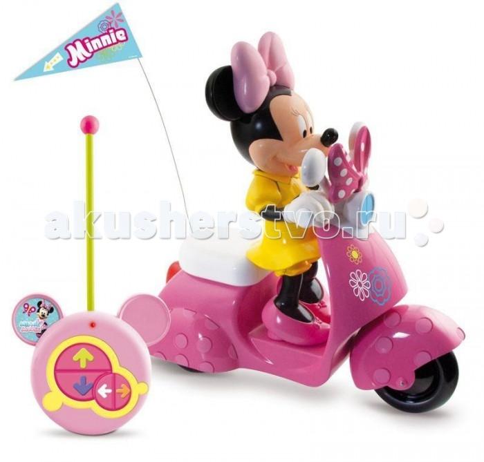 IMC toys Скутер с мышкой Minnie на радиоуправленииСкутер с мышкой Minnie на радиоуправленииСкутер на радиоуправлении IMC toys с мышкой Minnie  Он может ехать вперед, назад, повороты вправо и влево.  В набор входит фигурка Минни.  Комплект требует: 4 x AA для модели, 1 x 9 В Крона для пульта.<br>