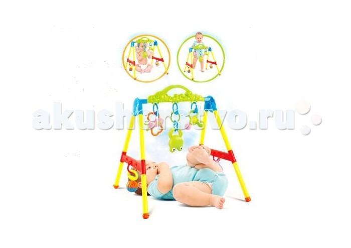 Игровой центр Shantou Gepai Игровой комплекс МалышИгровой комплекс МалышShantou Gepai Игровой комплекс Малыш предназначен для детей, достигших трехмесячного возраста. Игровой комплекс прост в сборке. К перекладине крепятся подвески-погремушки. Ребенок может играть с ними лежа, стоя или сидя.   Яркие игрушки привлекут внимания малыша, помогут развить цветовое восприятие, слух, а также тактильные ощущения и моторику рук.<br>