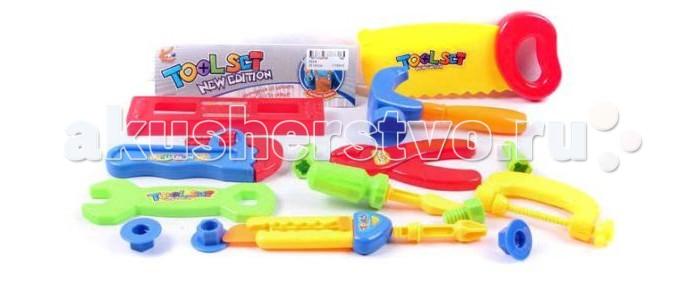 Shantou Gepai Набор инструментов 16 предметовНабор инструментов 16 предметовНабор инструментов состоит из 16 предметов. Отлично подойдет для сюжетно -ролевых игр. Во время игры ребенок учится базовым профессиональным навыкам.  Сюжетно-ролевая игра поможет развить многие полезные навыки, в том числе, учит терпению и отзывчивости.  Комплектность: плоскогубцы, пила, отвертка,молоток, разводной ключ, болты, гайки, бруски с отверстиями, газовый ключ.<br>