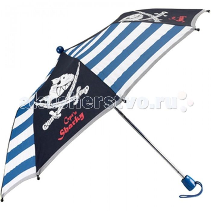 Детский зонтик Spiegelburg Captn Sharky 20721Captn Sharky 20721Складной зонт Captn Sharky из современного непромокаемого материала имеет прочную конструкцию и станет надежным и стильным аксессуаром, а яркая расцветка поднимет настроение в самую пасмурную погоду!  Основные характеристики:   Размер: &#216;80 см<br>