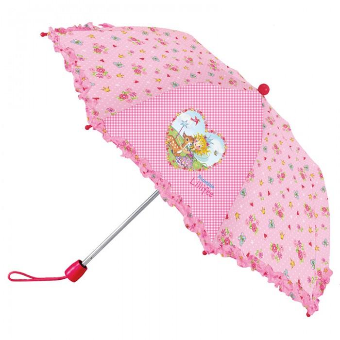 Детский зонтик Spiegelburg Зонт Prinzessin Lillifee 21050Зонт Prinzessin Lillifee 21050Складной зонтик с рюшами Prinzessin Lilifee станет любимым аксессуаром для маленькой принцессы в пасмурную и дождливую погоду. Он имеет легкий и удобный механизм, поэтому ребенок без труда сможет сам закрывать открывать зонтик.  Основные характеристики:   Размер: &#216;80 см<br>