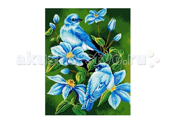 Molly Мозаичная картина В голубых цветахМозаичная картина В голубых цветахMolly Мозаичная картина В голубых цветах GZ548  Создание мозаики – это захватывающий и увлекательный творческий процесс, занятие для души и отдых от повседневных забот. С помощью этого набора вы можете создать настоящий рукотворный шедевр. Камушек за камушком и основа картины будет закрываться блестящим панцирем. Готовая картина станет прекрасным украшением вашего дома.  Комплектация: - тканевый холст с клеевым слоем и с нанесенной схемой рисунка; - металлический пинцет; - пластиковый контейнер для элементов мозаики; - специальный карандаш; - клей-липучка для карандаша; - комплект разноцветных мозаичных элементов диаметром 2,5 мм.  Размер: 40х50 см.<br>