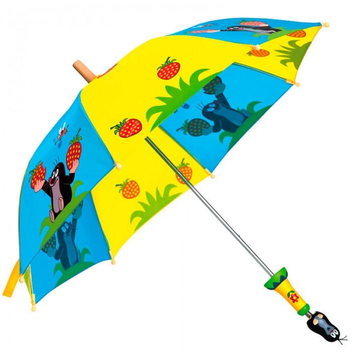 Детский зонтик Spiegelburg Зонт Крот 13755Зонт Крот 13755Зонт изготовлен из прочного непромокаемого материала. С таким зонтом ребенку будет комфортно и удобно в дождливую погоду находиться на улице, а яркий рисунок с кротом доставит ему радость и поднимет настроение.  Основные характеристики:   Размер: 15 х 0,8 х 15 см<br>