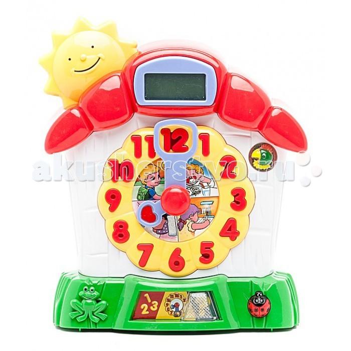 Развивающая игрушка Shantou Gepai Игрушка развивающая Часики знанийИгрушка развивающая Часики знанийРазвивающая игрушка Shantou Gepai Игрушка развивающая Часики знаний. Игрушка учит малыша распознавать время. Время отражается на электронном табло. Дети выставляют время на круглом циферблате подвижными стрелками, цифры на этом циферблате одновременно являются кнопками.   Игра имеет три режима: учим цифры учим время проверка знаний.  Игрушка воспроизводит также песенки на русском языке и другие звуковые эффекты.<br>