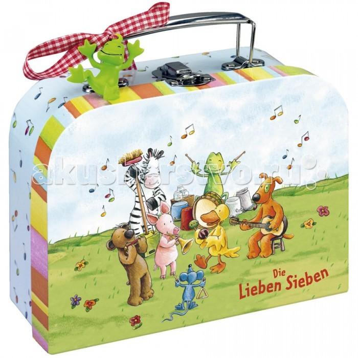 Spiegelburg Чемоданчик для игр Die Lieben SiebenЧемоданчик для игр Die Lieben SiebenЧемоданчик для игр Die Lieben Sieben. Изготовлен из специально обработанного плотного картона.   Основные характеристики:   Размер: 14 x 8 x 20 см<br>