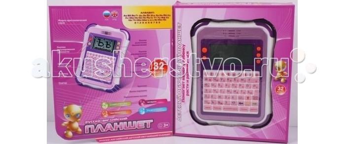 Shantou Gepai Детский обучающий компьютер-планшет 32 функцииДетский обучающий компьютер-планшет 32 функцииShantou Gepai Детский обучающий компьютер-планшет 32 функции  Этот обучающий компьютер-планшет – не просто  игрушка: он поможет подготовить Вашего ребенка к школе, а также освоить работу с подобными современными устройствами. В планшете 32  функции, 9 игр и несколько мелодий. Играя, ребенок научится читать, считать, а также эстетически развиваться: слушать музыку. Все задания в этом компьютере в форме игры, поэтому Вашему ребенку будет интересно заниматься Дисплей планшета жидкокристаллический, изображения на нем крупные и контрастные, а потому это не утомит детские глазки. Он небольшой по размеру и ребенку будет удобно держать его в руках, а также взять с собой в путешествие или гости Функции: уроки русского и английского, изучение букв, печатаем на скорость, расставь буквы по алфавиту, учим слова, напиши слово, найди пропущенную/лишнюю в слове букву, найди нужное слово, изучение синонимов/антонимов, математические уроки (учим цифры, вставь верное число, сравни цифры, сложение/вычитание, умножение/деление, логика), уроки музыки (пианино, ноты, мелодии), игры (гонки, змейка, поймай жука, фигурки, тетрис, строим пирамидку) На этом компьютере очень удобные кнопки, его легко включить и выключить, а также выбрать нужную игру, поэтому Ваш малыш быстро с ним освоится. С этим компьютером досуг Вашего ребенка станет разнообразнее, а игры познавательней и увлекательней.  Дополнительные характеристики: Размер планшета: (ДхШхВ) 22 x 16 x 2 см Размер экрана: 8 х 4 см Понадобятся 3 батарейки типа АА (не идут в комплекте).<br>
