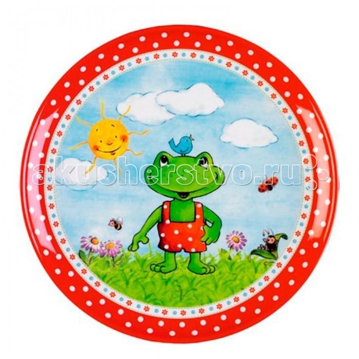 Spiegelburg Тарелка Garden 10381Тарелка Garden 10381Симпатичная тарелка из меламина коллекции Garden. Яркая картинка поспособствует быстрому ее опустошению.  Подходит для мытья в посудомоечной машине и не подходит для горячей еды и микроволновой печи.  Основные характеристики:   Размер: 21 см<br>