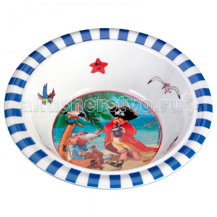 Spiegelburg Тарелка глубокая Captn Sharky 21374Тарелка глубокая Captn Sharky 21374Детская глубокая тарелка Capt'n Sharky. Отлично подойдет для супов, каш или хлопьев. Ударопрочная с нескользящим дном. Подходит для мытья в посудомоечной машине  и не подходит для горячей еды и микроволновой печи.  Основные характеристики:   Размер: 16 см<br>