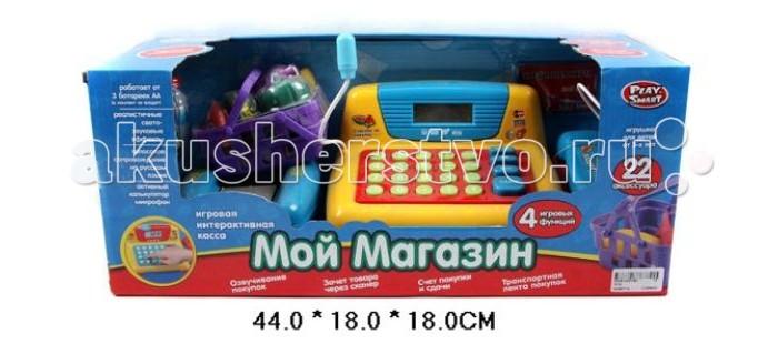 Shantou Gepai Касса электронная Мой магазин со сканером и набором продуктовКасса электронная Мой магазин со сканером и набором продуктовShantou Gepai Касса электронная Мой магазин со сканером и набором продуктов имитация магазина для девочек. Игрушка развивает внимание, интерес к работе, увлекательная игра окунет вашу малышку в мир фантазии.   Касса очень понравится детям, ведь в этом наборе есть все необходимое: кассовый аппарат, калькулятор, сканер, деньги, продукты.  Калькулятор работает как настоящий, сканер считывает штрих-код, а отделение для денег выдвигается. Включив специальный режим, можно познакомить ребенка с азами математики и прослушать музыкальные мелодии.  Игрушка предназначена для сюжетно-ролевых игр, развивающих воображение и творческий потенциал ребенка.  Работает от 3-х батареек типа АА (в комплект не входят).  В наборе - 22 аксессуара.<br>