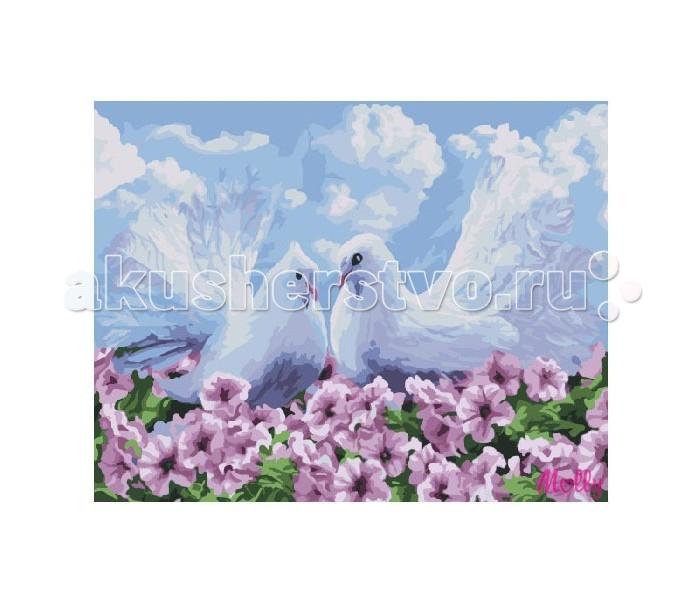 Molly Картина по номерам Пара голубейКартина по номерам Пара голубейMolly Картина по номерам Пара голубей EX5224  Картина по номерам – очень увлекательное хобби для тех, кто хочет окунуться в мир прекрасного и уйти от стрессов и разукрасить свой мир и своих домочадцев разными красками. Такая картина, расписанная своими руками, послужит не только отличным подарком, но и уникальным предметом украшения интерьера, так как в нее вложена любовь и старание. Изображение цветов не только радует глаз, но и по учению фен-шуй улучшает атмосферу в доме, привнося в нее любовь и умиротворение. Для создания собственного шедевра достаточно желания, немного фантазии и следования советам по рисованию, которые есть на обороте упаковки.  Набор для раскрашивания: - холст, натянутый на подрамник с нанесенным рисунком - контрольный лист - акриловые краски в баночках (смешивать не нужно) - три кисти, различного размера - крепеж для подвешивания  Размер: 30х40 см.<br>